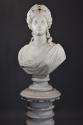 19thc life size marble bust on stand of Ceres signed 'S.KITSON' - picture 3