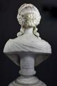 19thc life size marble bust on stand of Ceres signed 'S.KITSON' - picture 8