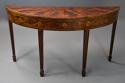 Rare 18thc semi-elliptical mahogany side table with superb patina - picture 1