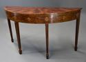 Rare 18thc semi-elliptical mahogany side table with superb patina - picture 2