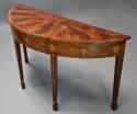 Rare 18thc semi-elliptical mahogany side table with superb patina - picture 5