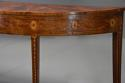 Rare 18thc semi-elliptical mahogany side table with superb patina - picture 6