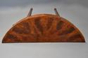 Rare 18thc semi-elliptical mahogany side table with superb patina - picture 8
