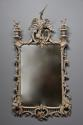 Pair of highly decorative Chippendale style carved wooden pier mirrors - picture 2