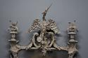 Pair of highly decorative Chippendale style carved wooden pier mirrors - picture 4