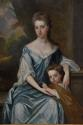 Large 18thc oil painting 'Lady & Child', attributed to Michael Dahl - picture 2