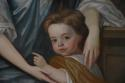 Large 18thc oil painting 'Lady & Child', attributed to Michael Dahl - picture 4