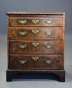 Extremely rare 18thc walnut chest of drawers in untouched condition - picture 4
