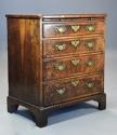 Extremely rare 18thc walnut chest of drawers in untouched condition - picture 5