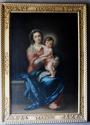 Large 19thc oil painting of 'The Madonna & Child' by Luigi Pompignoli - picture 2