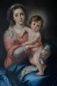 Large 19thc oil painting of 'The Madonna & Child' by Luigi Pompignoli - picture 3