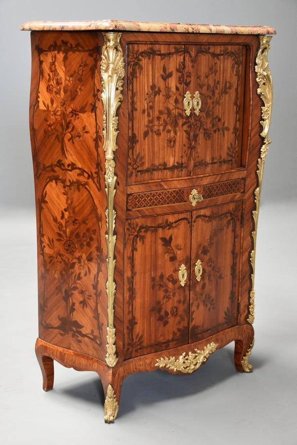 Rare fine quality French 18thc secretaire cabinet attributed to RVLC
