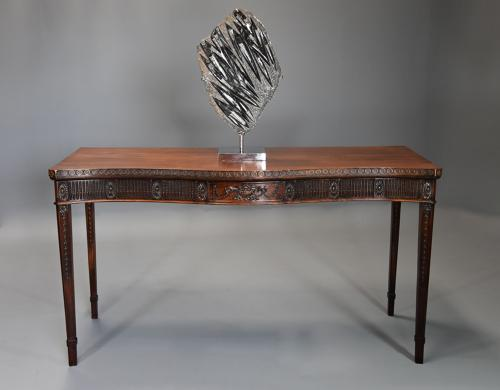 Late 19th century mahogany serving table in the Adam style