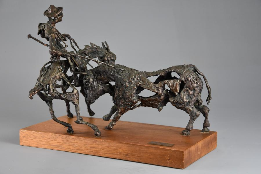 Bronze sculpture 'The Picador' by Daniel Rintoul Booth (1932-1978)