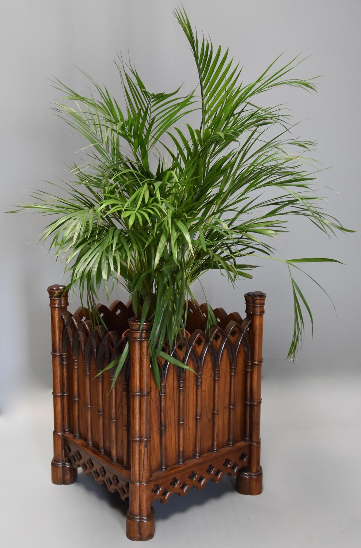 Highly decorative elm Gothic style planter