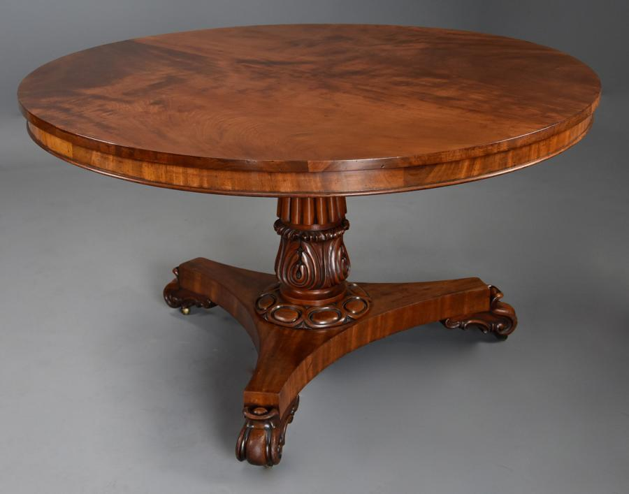 Mid 19th century mahogany centre table of excellent patina