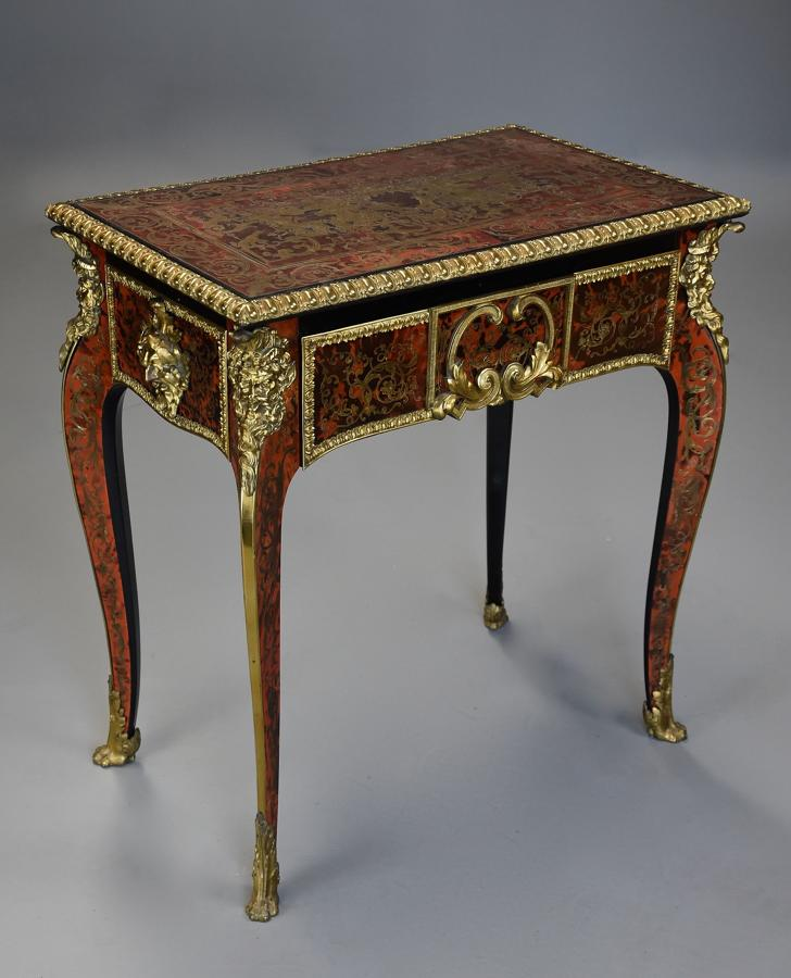 Superb English 19thc 'Boulle' centre table in the French style