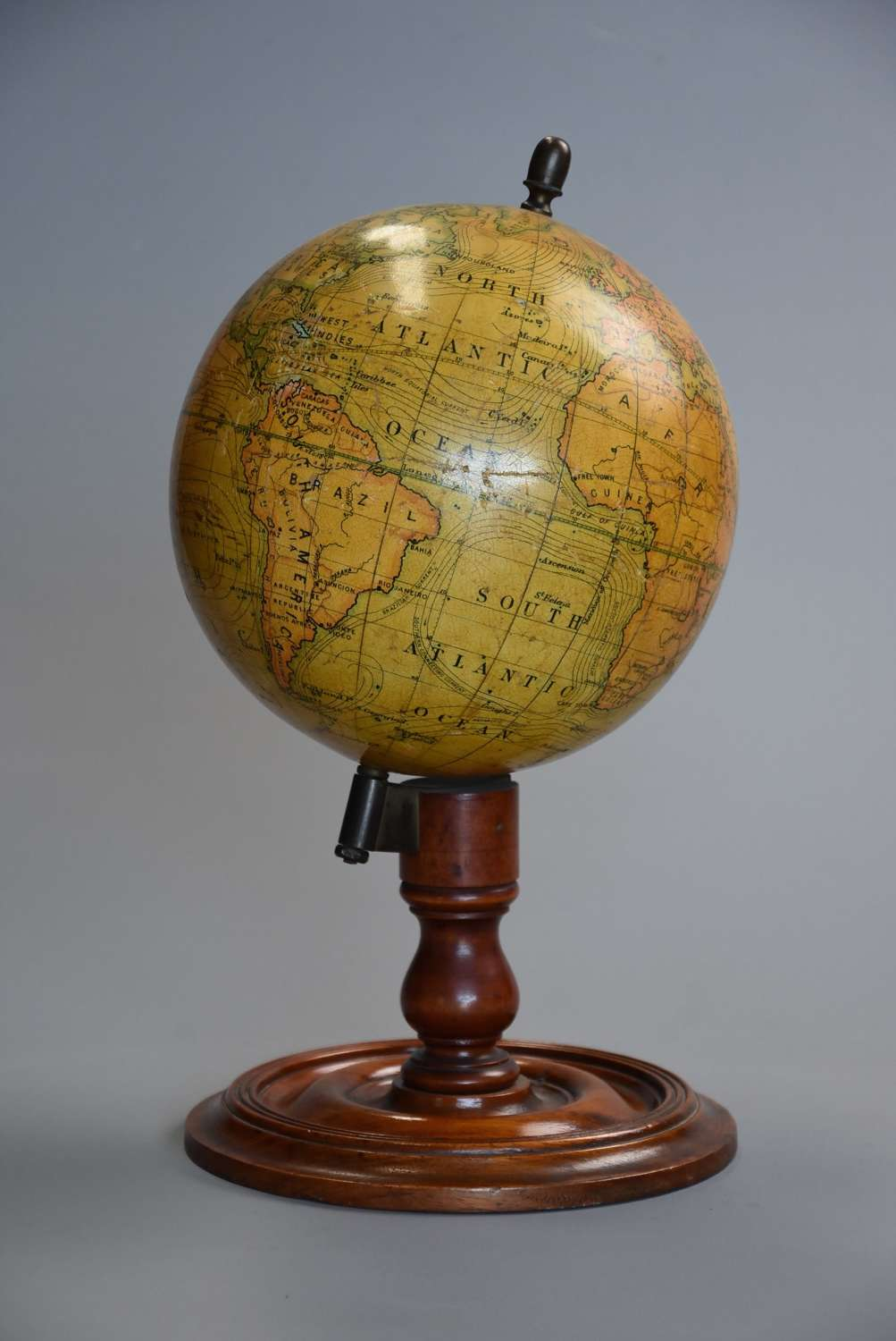 Early 20thc educational table globe by E.J. Arnold & Sons Ltd. Leeds
