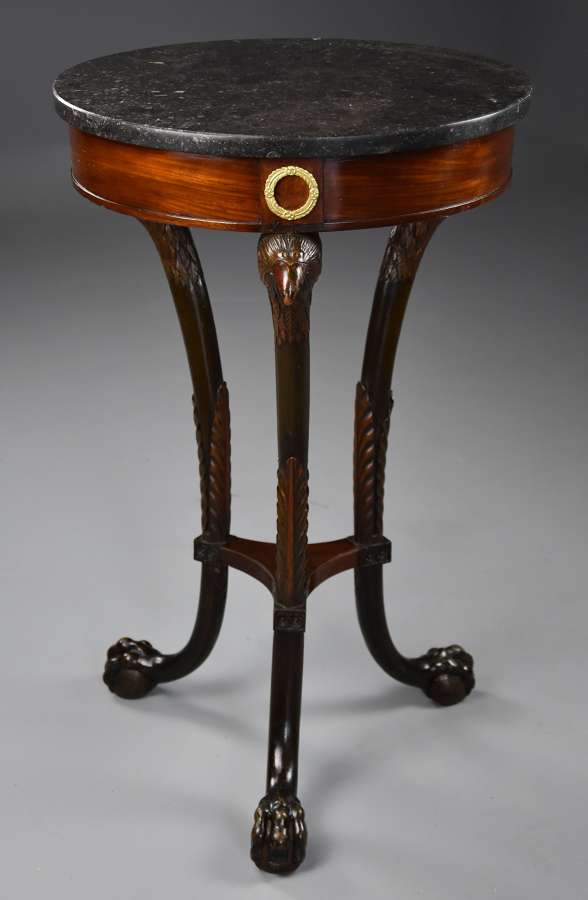 Late 18thc French Empire mahogany gueridon table of small proportions