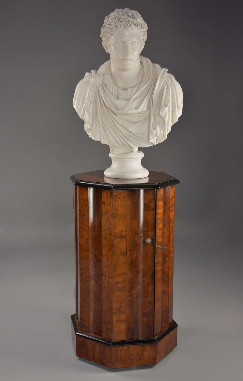 Mid 19thc mahogany octagonal pot cupboard of fine patina