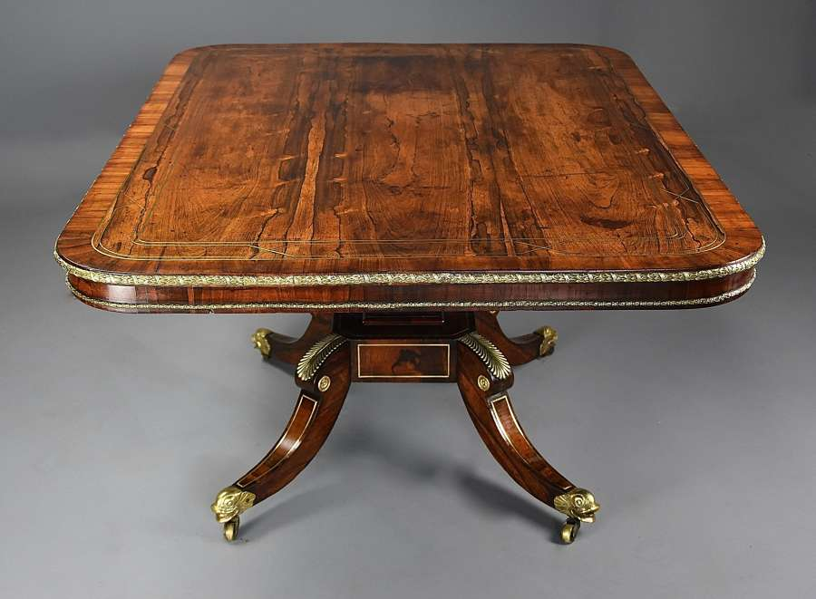 Fine quality Regency rosewood breakfast table of exceptional patina