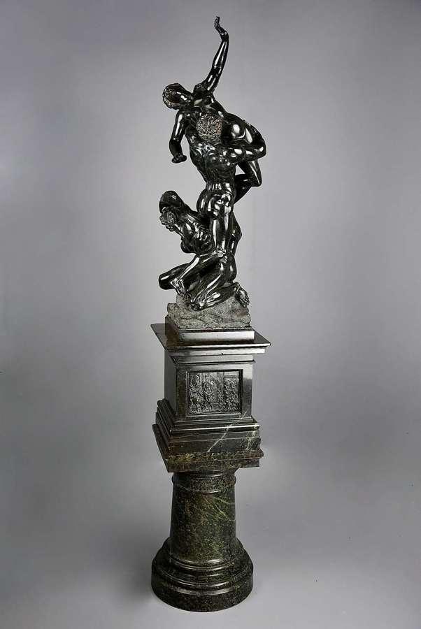Large 19thc Grand Tour sculpture 'Abduction of the Sabine Women'