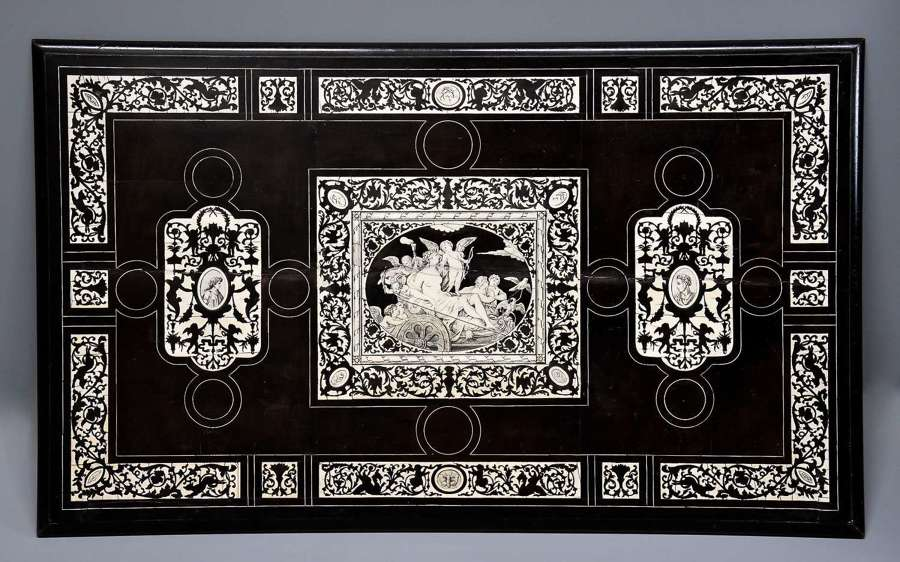 19thc North Italian table top in the Renaissance style
