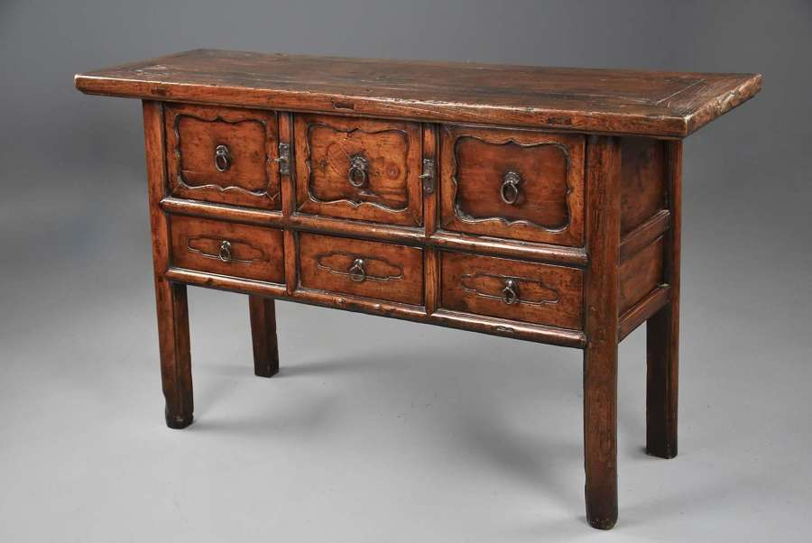 19th century Chinese elm dresser or sideboard of fine patina