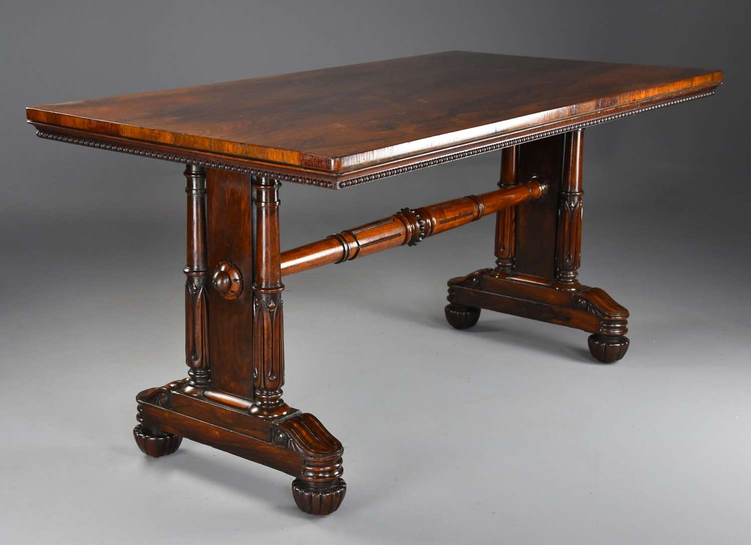 Fine quality William IVth rosewood centre or writing table