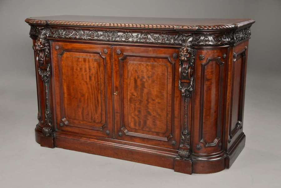 Holland & Sons Exhibition quality Renaissance style mahogany cabinet